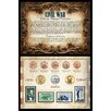 American Coin Treasures Civil War Coin and Stamp Collection Wall Framed Memorabilia