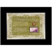 American Coin Treasures Mother's Day Celebration Desk Framed Memorabilia with Stamp and Coin in Black
