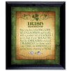 American Coin Treasures Irish Blessing with 2 Three Pence Wall Framed Textual Art