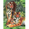 Royal & Langnickel Painting by Numbers Small Tigers Junior Set (Set of 3)