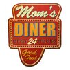 VIP INTERNATIONAL Wooden Sign Mom's Diner Wall Décor