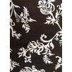 James Bond Alliyah New Zealand Blend Black/Ivory Floral Area Rug