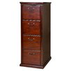 kathy ireland Home by Martin Furniture Huntington Club Four Drawer Vertical File Pedestal