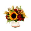 Creative Displays, Inc. Sunflower Pear Berry in Decoupage Glass Vase