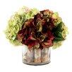 Creative Displays, Inc. Multi Hydrangea in Birch Pot