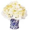 Creative Displays, Inc. Crème Hydrangea Bouquet in Chinoiserie Vase