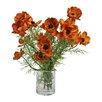 Creative Displays, Inc. Poppies in Acrylic Glass Vase
