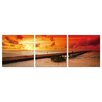 Artistic Bliss Red Sunset Photographic Print (Set of 3)