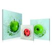 Artistic Bliss Apples Droping 3 Piece Framed Photographic Prints Set