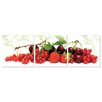 Artistic Bliss Cherries and Strawberries 3 Piece Photographic Print Set