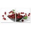 Artistic Bliss Cherry Bowl 2 Piece Photographic Print Set