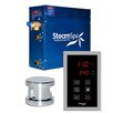 Steam Spa SteamSpa Oasis 4.5 KW QuickStart Steam Bath Generator Package in Polished Chrome