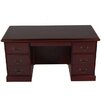 OfficeSource Brunswick Executive Desk with File Drawer