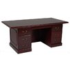 OfficeSource Brunswick Executive Desk with 7 Drawers