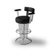 "Createch Saturne 39"" Swivel Bar Stool with Cushion"