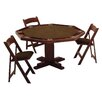 Kestell Furniture 57'' Oak Pedestal Base Poker Table Set