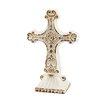 CKK Home Décor, LP Accents of Faith Worn Cross Pedestal Sculpture