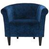 Savannah Club Chair with Black Finish