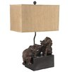 "Fox Hill Trading Creek Classics Elephant 27"" H Table Lamp with Rectangular Shade"