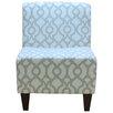 Fox Hill Trading Penelope Armless Lyon French Gray Slipper Chair