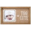 Malden Too Cute Burlap Picture Frame