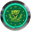 "Neonetics 15"" Irish Erin Go Bragh Wall Clock"