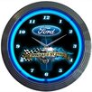 """Neonetics 15"""" Powered By Ford Wall Clock"""
