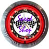 """Neonetics Cars and Motorcycles 15"""" Speed Shop Wall Clock"""