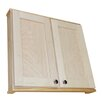 """WG Wood Products Shaker Series 30"""" Double Door Wall Mounted Cabinet"""
