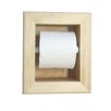 WG Wood Products Recessed Mega Toilet Paper Holder