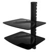 Rocelco Wall Mounted Double Media Shelf