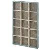 CBK Wall Shelf with Woven Pattern Background