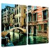 ArtWall 'Venice Canal' by George Zucconi 2 Piece Photographic Print Gallery-Wrapped on Canvas Set