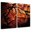 ArtWall 'Fire Breather: Japanese Tree' by John Black 2 Piece Photographic Print Gallery-Wrapped on Canvas Set