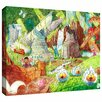 ArtWall 'Sheep Forest' by Luis Peres Painting Print on Wrapped Canvas
