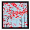 ArtWall 'Red Forest' by Herb Dickinson Framed Painting Print on Wrapped Canvas