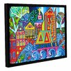 ArtWall Jump by Debra Purcell Floater Framed Painting Print on Wrapped Canvas