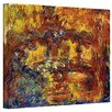 ArtWall ''Japanese Footbridge'' by Claude Monet Canvas Painting Print