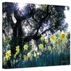 ArtWall Daffodils and The Oak Canvas Art by Kathy Yates