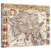 ArtWall Antique Maps 'Map of Asia' by Guillaume Danet Graphic Art Canvas