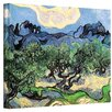 ArtWall 'Olive Trees' by Vincent Van Gogh Painting Print on Wrapped Canvas