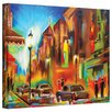 ArtWall 'Twilight in Treviso' by Susi Franco Painting Print on Canvas