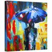 ArtWall 'Downtown Stroll' by Susi Franco Painting Print on Canvas