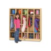 Jonti-Craft 1 Tier 5 Sections Coat Locker