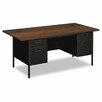 """HON Metro Classic 60""""W x 30""""D Double Pedestal Desk"""