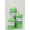 Mill Valley Candleworks 3 Piece Spa Day Scented Pillar Candle Set