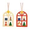 Christian Ulbricht Advent Windows Ornament (Set of 2)