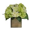 Tree Masters Inc. Hydrangea Mix in Natural Wooden Box