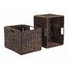 Winsome Granville Foldable Corn Husk Basket (Set of 2)