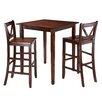 Winsome Kingsgate 3 Piece Pub Table Set
